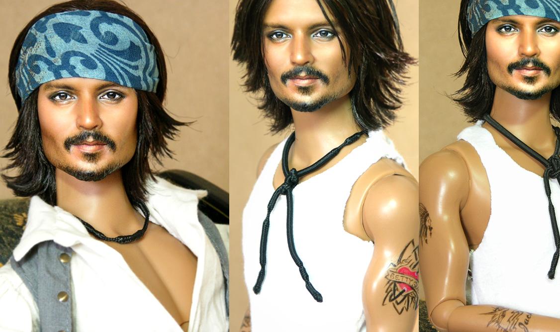 Doll Repainted as Johnny Depp by noeling