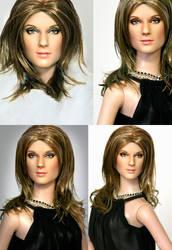 Doll Repainted as Celine Dion by noeling