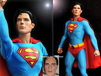 Doll Repaint Christopher Reeve by noeling