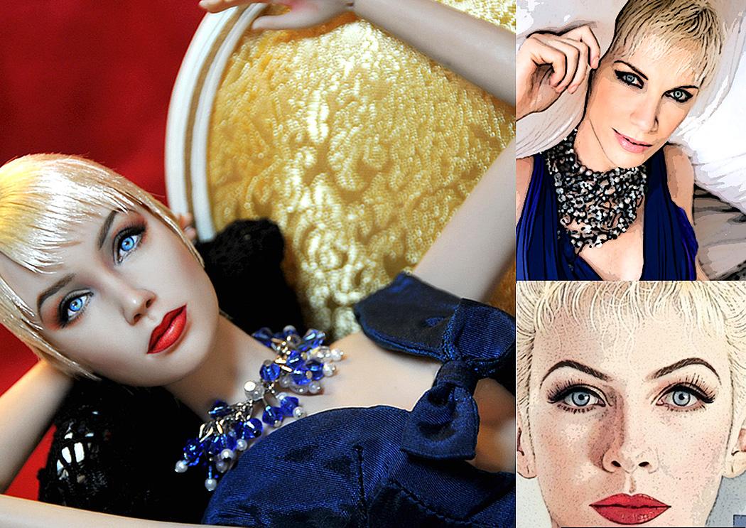 Doll Repaint - Annie Lennox by noeling