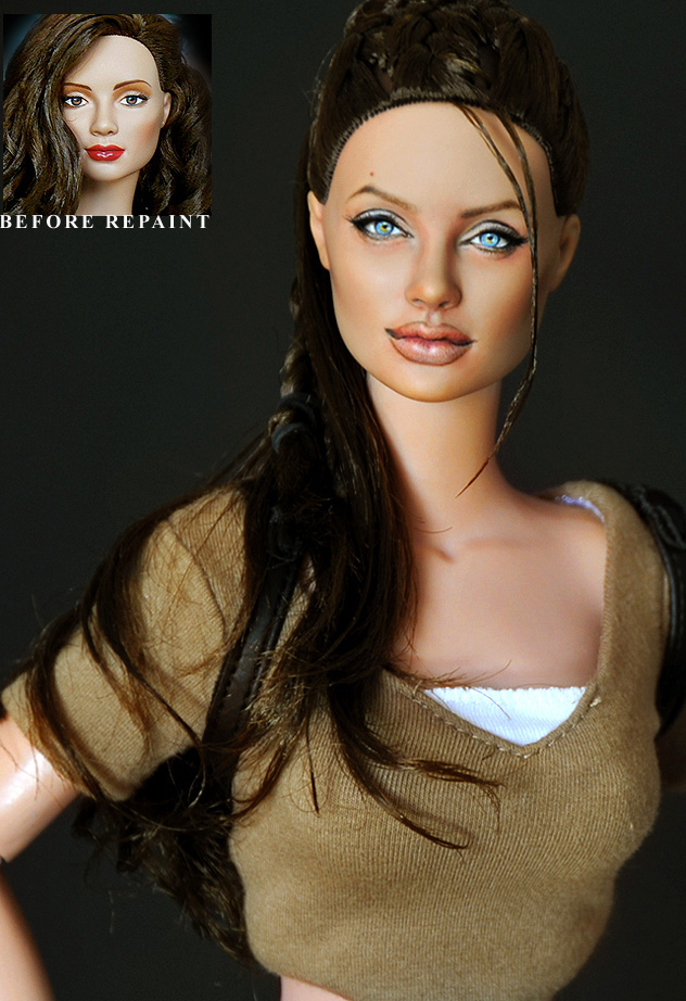 Repaint Angelina Jolie as Lara by noeling