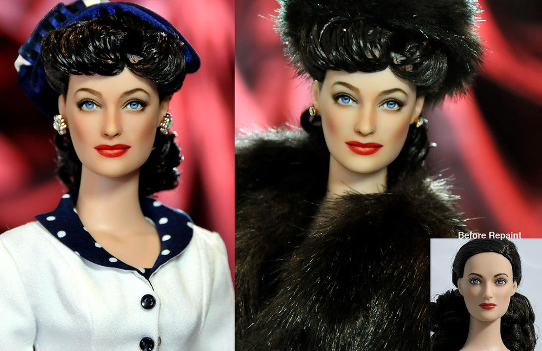 Doll Repaint - Joan Crawford by noeling