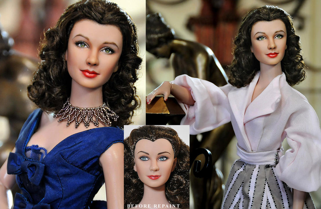 Doll Repaint - Vivien Leigh by noeling
