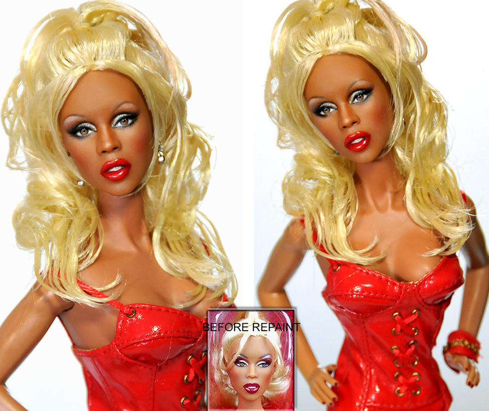 Custom Doll Repaint- RUPAUL by noeling