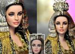 Doll Repaint  Elizabeth Taylor