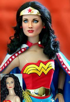 Doll Repaint Wonder Woman by noeling