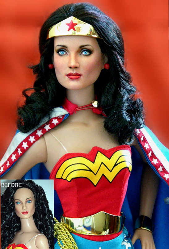 Doll Repaint Wonder Woman by noeling