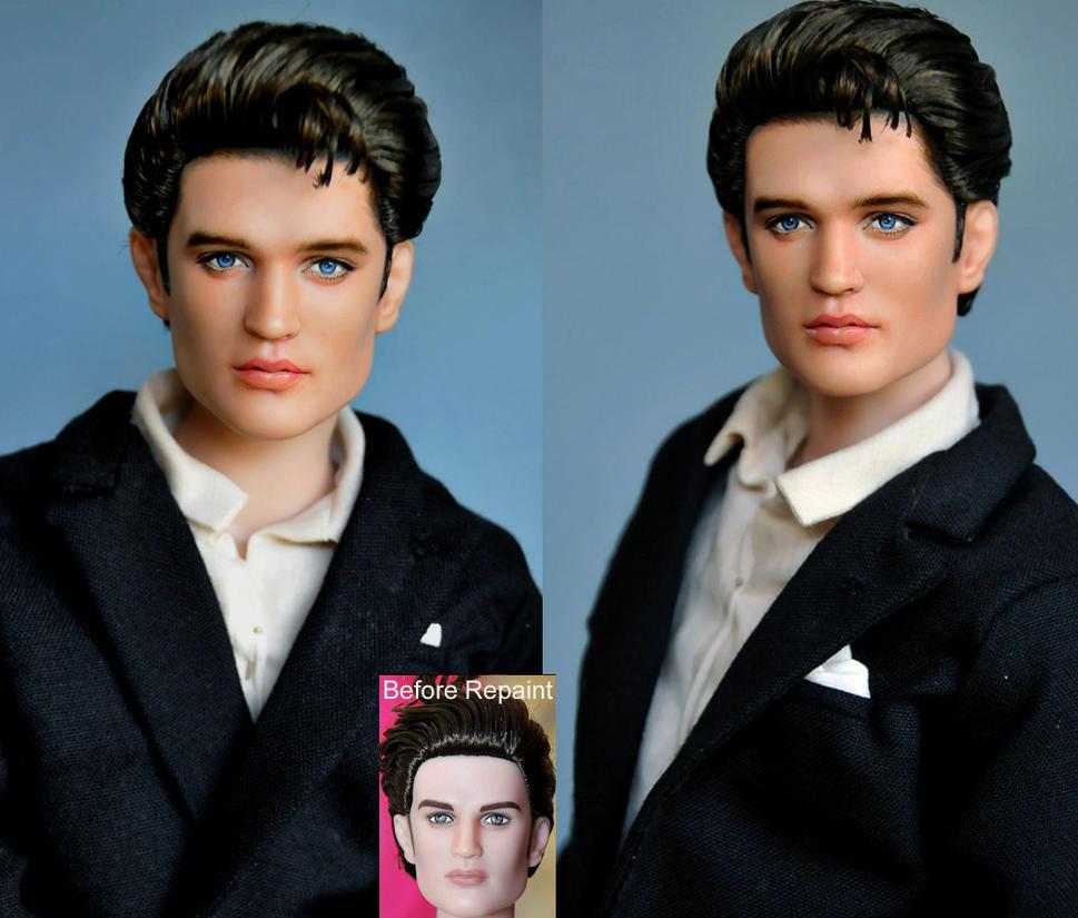 Doll Repaint - Elvis Presley by noeling