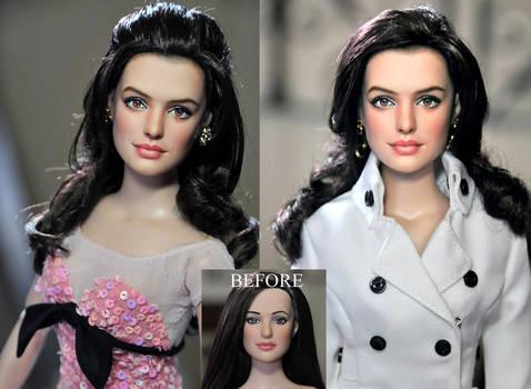 Doll Repaint - Anne Hathaway by noeling