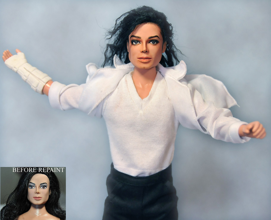 Michael Jackson tribute doll by noeling