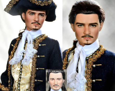 repaint doll - Will Turner by noeling