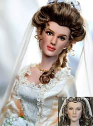 repaint doll Elizabeth Swann by noeling