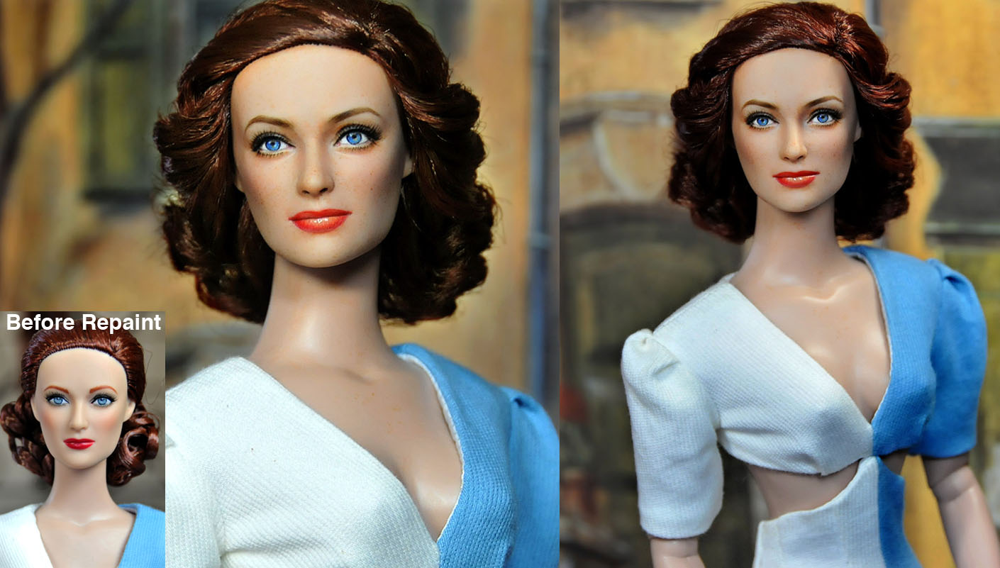 Repaint Doll - Joan Crawford by noeling
