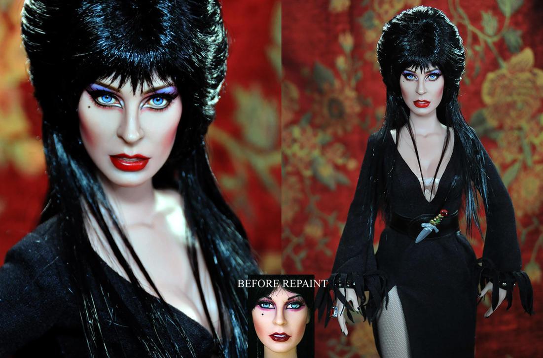 Doll Repaint - Elvira by noeling