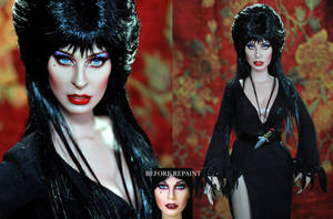 Doll Repaint - Elvira by noeling