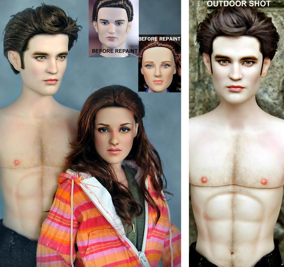New Moon dolls Bella n Edward by noeling