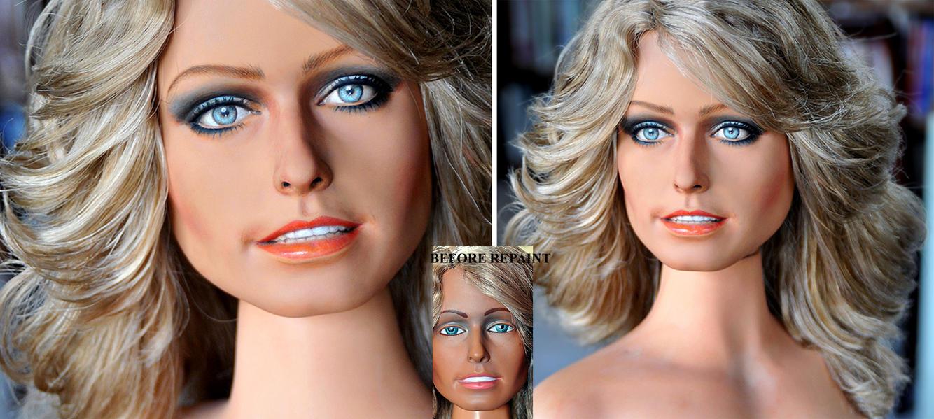 Farrah Fawcett Bust Repaint by noeling
