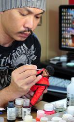 Repainting miniature Thriller by noeling