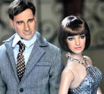 Agent 99 n Maxwell Smart dolls
