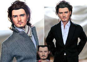Doll Repaint - Orlando Bloom by noeling