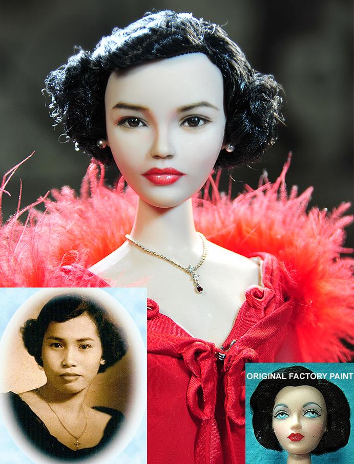 Doll Repaint - My dearest Mom Carmen Cruz by noeling