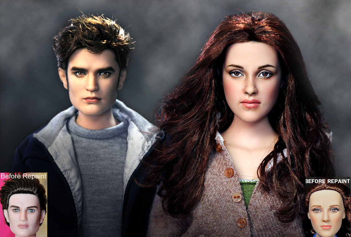 Eclipse Bella and Edward dolls by noeling