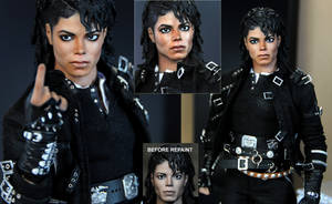 Michael Jackson doll art - BAD by noeling