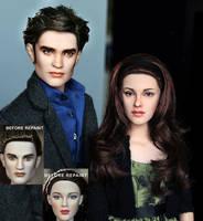 New Moon Bella n Edward dolls by noeling