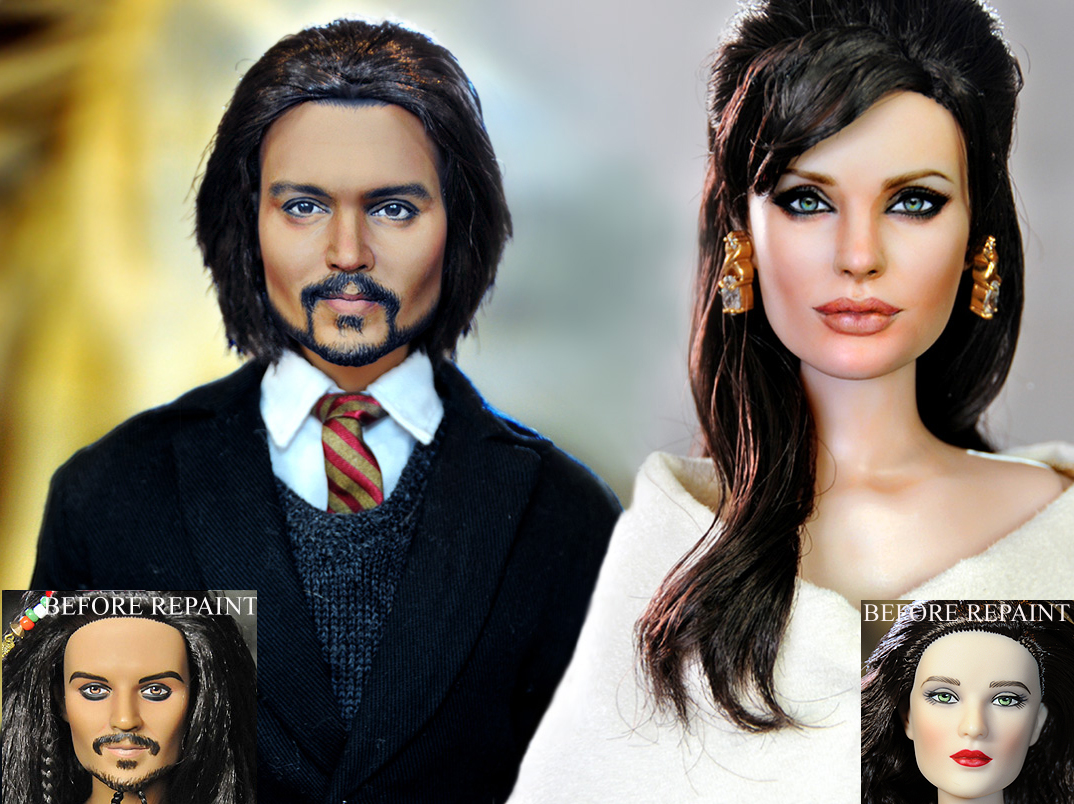 Angelina Jolie Johnny Depp dol by noeling