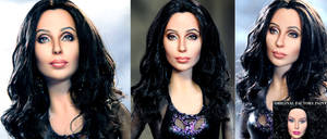 Burlesque Cher doll repaint