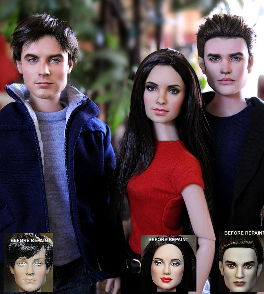 VAMPIRE DIARIES DOLL REPAINTS by noeling