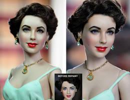 Elizabeth Taylor Doll Tribute by noeling