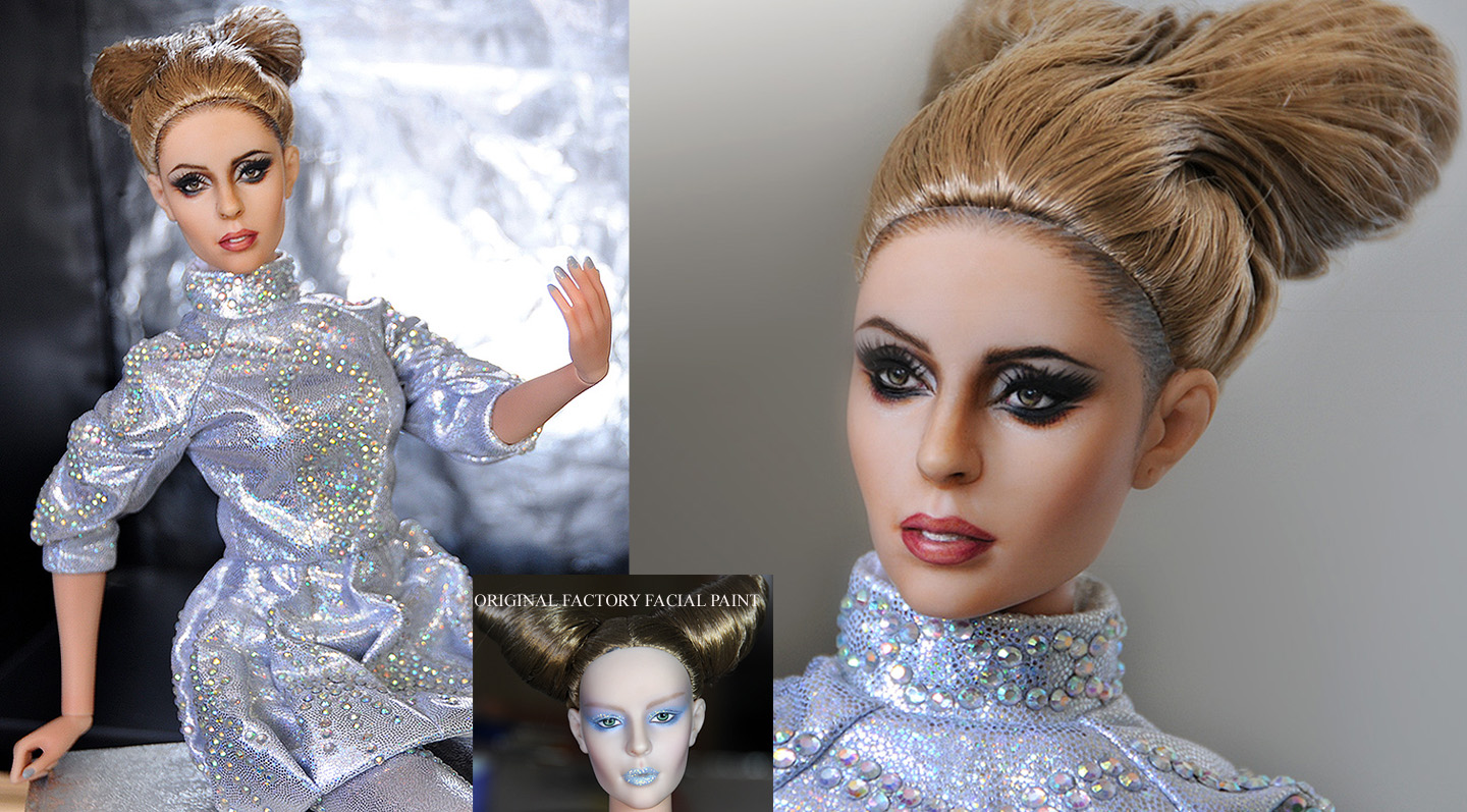 Lady Gaga custom doll art by noeling