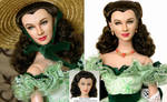 Scarlett O'hara Doll Repaint