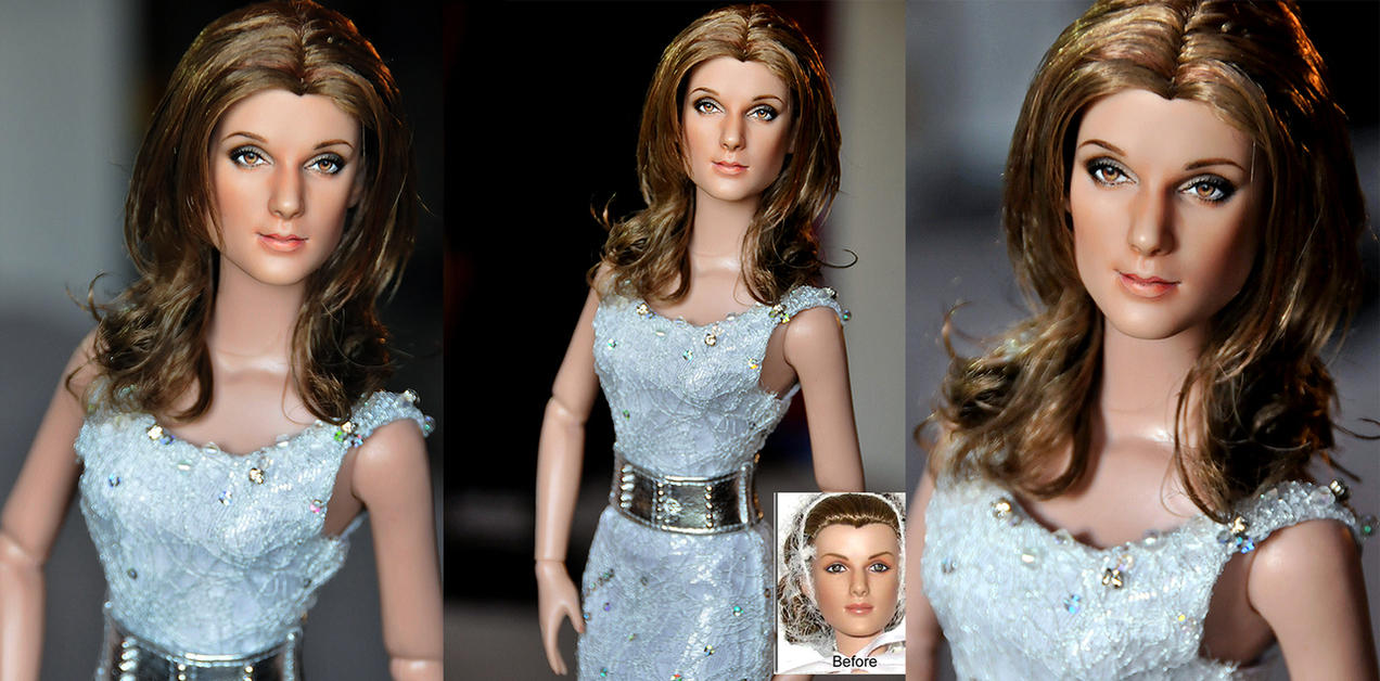 Celine Dion custom doll art by noeling