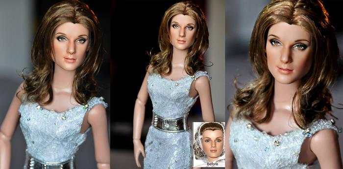 Celine Dion custom doll art by noeling