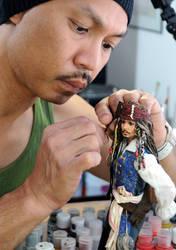 Creating Jack Sparrow doll by noeling