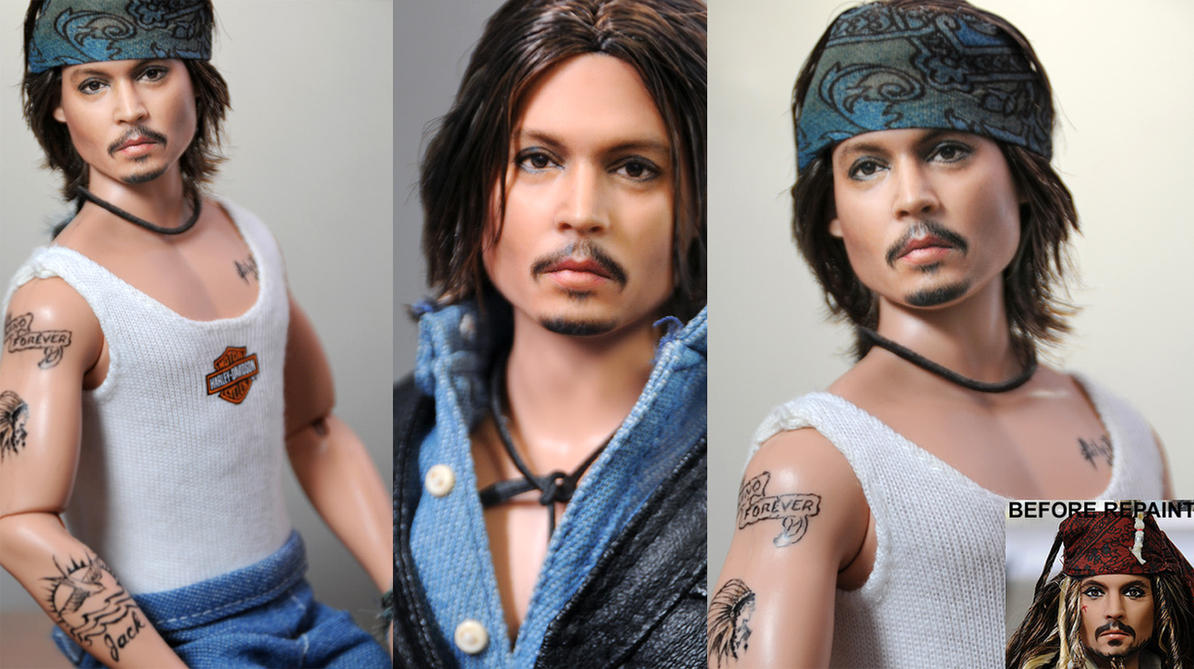 12 inch Johnny Depp repaint by noeling