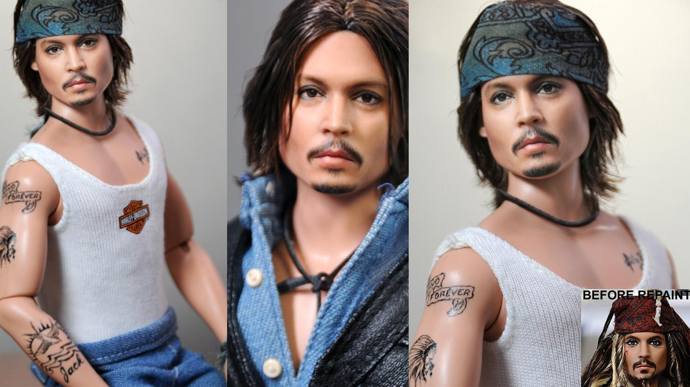 12 inch Johnny Depp repaint by noeling