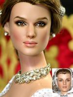 Keira Knightley Repaint Doll by noeling