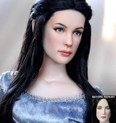 Arwen custom doll repaint by noeling