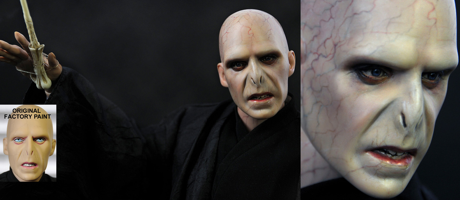 Lord Voldemort doll repaint by noeling