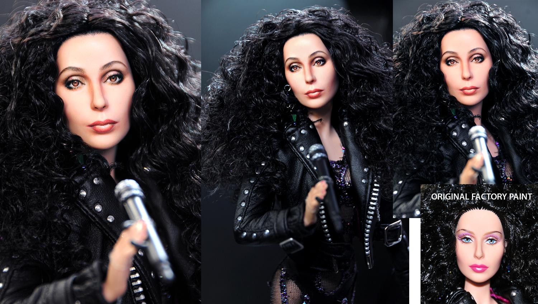 Mattel Cher doll repaint by noeling