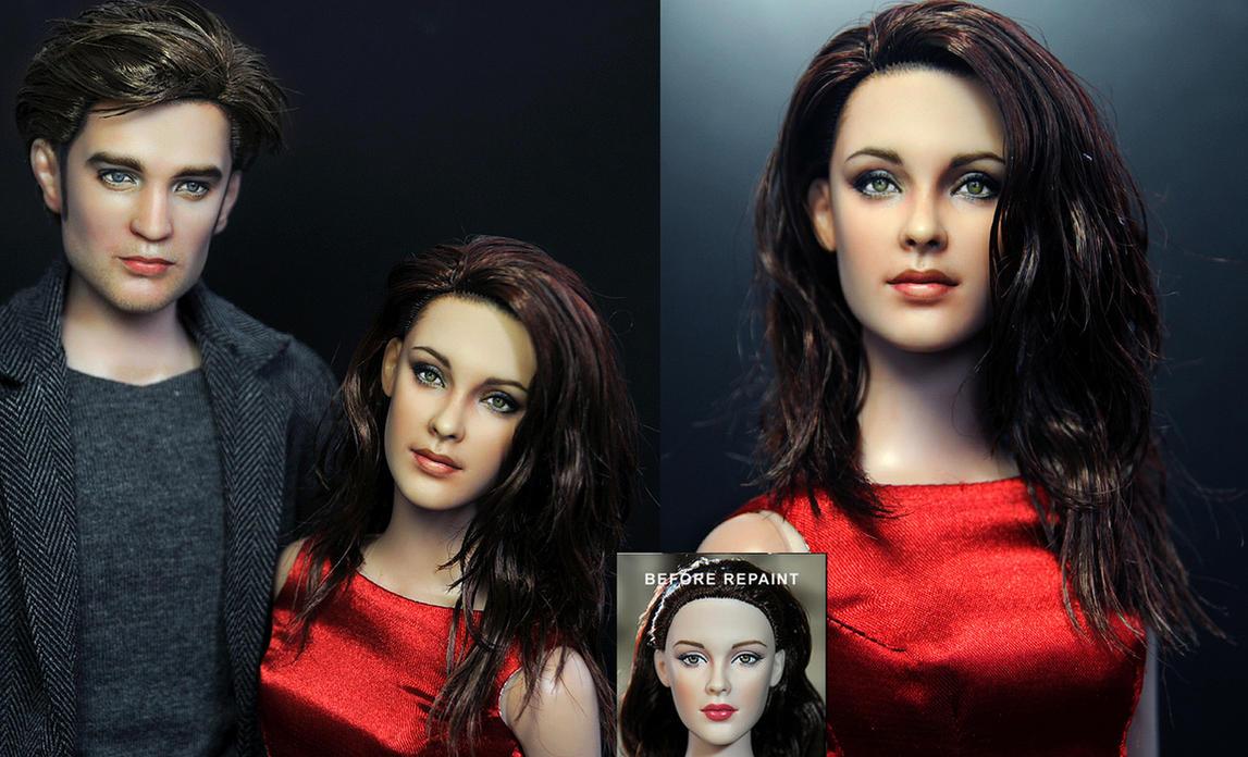 Kristen Stewart doll repaint by noeling