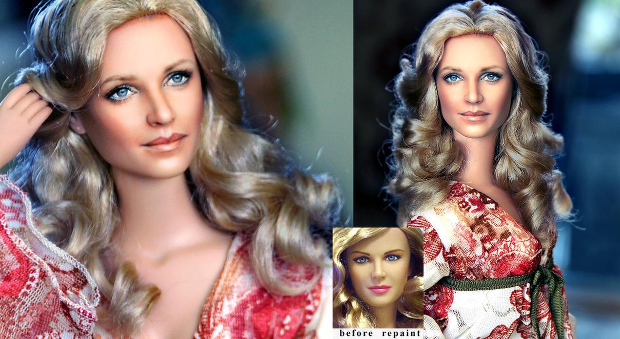 Bionic Woman Lindsay Wagner custom doll repaint by noeling