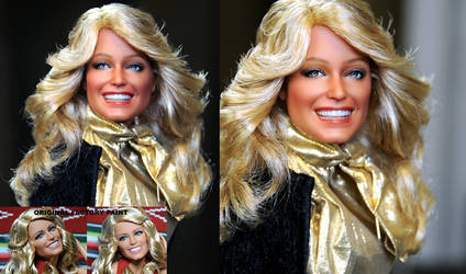 Farrah Fawcett custom doll repaint