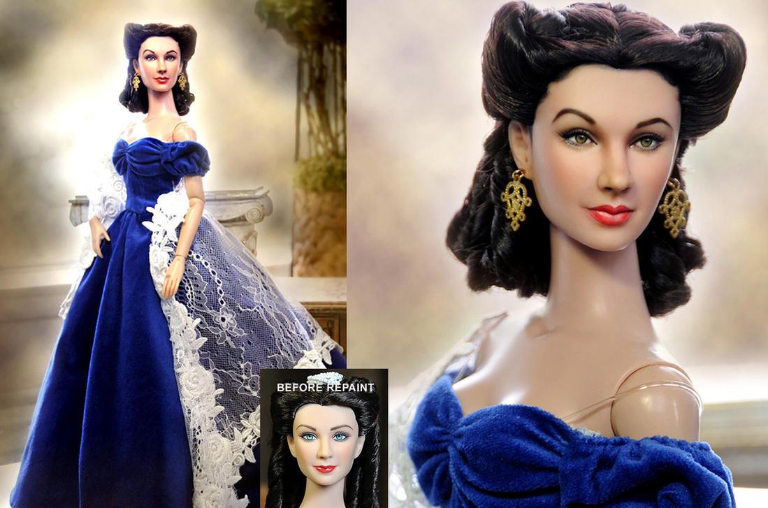 custom Doll Repaint - Scarlett O'hara by noeling