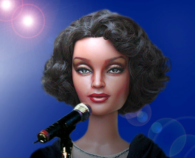 2002 repaint VIOLET DOLL channels WHITNEY HOUSTON by noeling