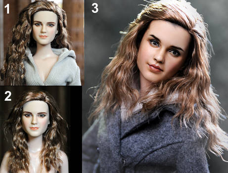 Emma Watson as Hermione Granger custom doll by noeling