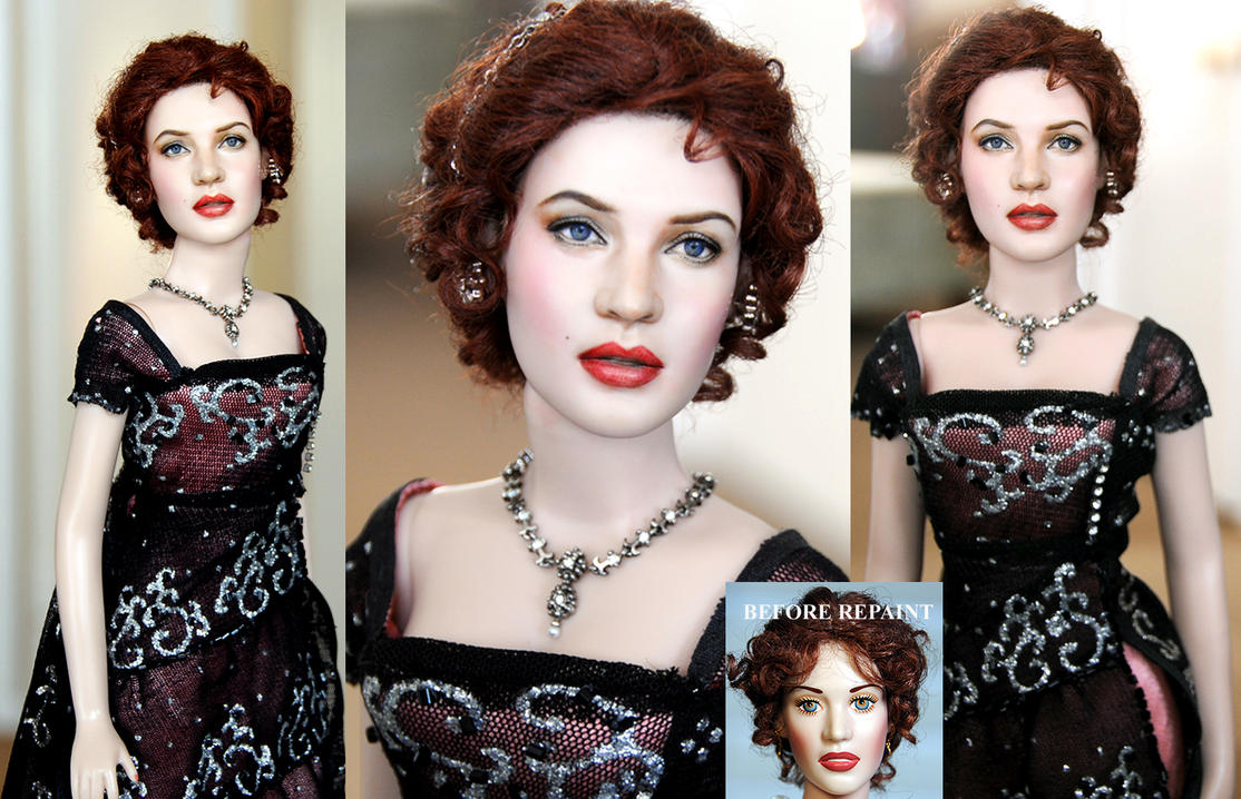 Kate Winslet as Titanic Rose custom doll by noeling